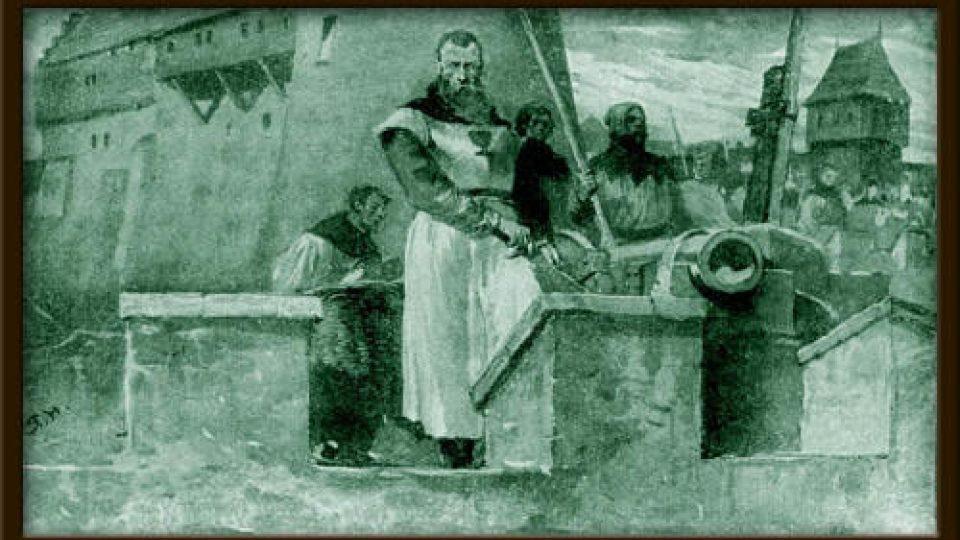 Jan Roháč z Dubé, poslední  husitský vojevůdce, který se 6.9. 1437 na hradu Sion neubránil vojsku císaře Zikmunda