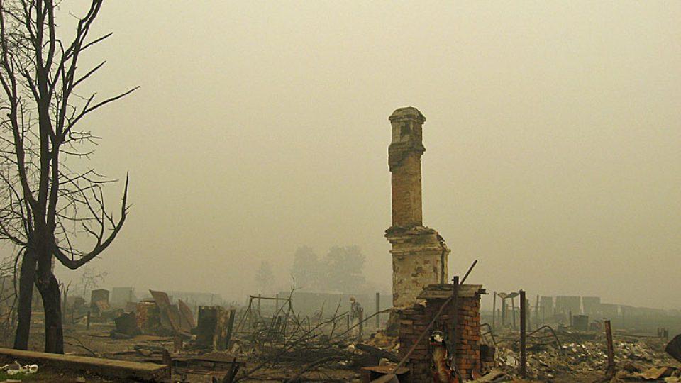 Zničená vesnice Mochovoje