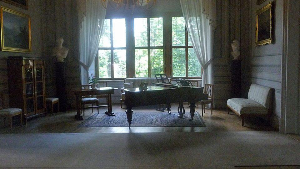 Jedna z místností na zámku v Litomyšli
