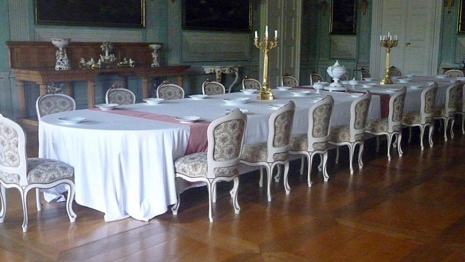 Velká jídelna na zámku v Litomyšli