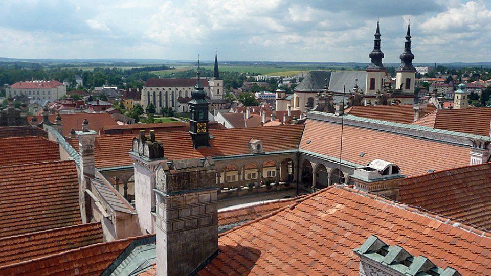 Vyhlídka z věže zámku v Litomyšli
