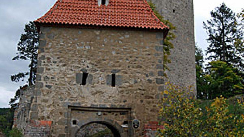 Vstupní brána na hrad Zvíkov