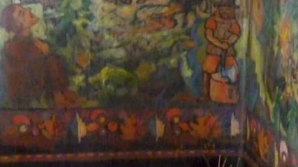 Váchalovy malby na stěnách