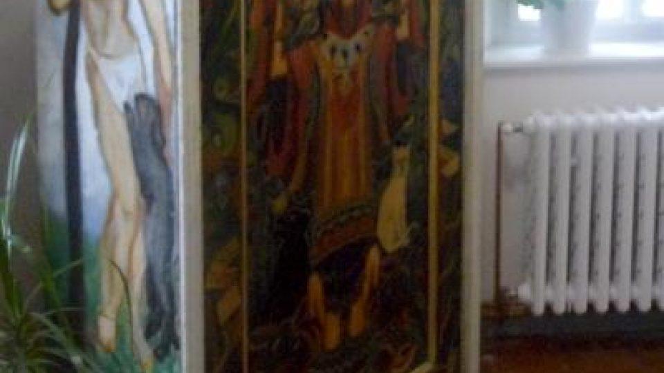 Skříň s malbami Josefa Váchala