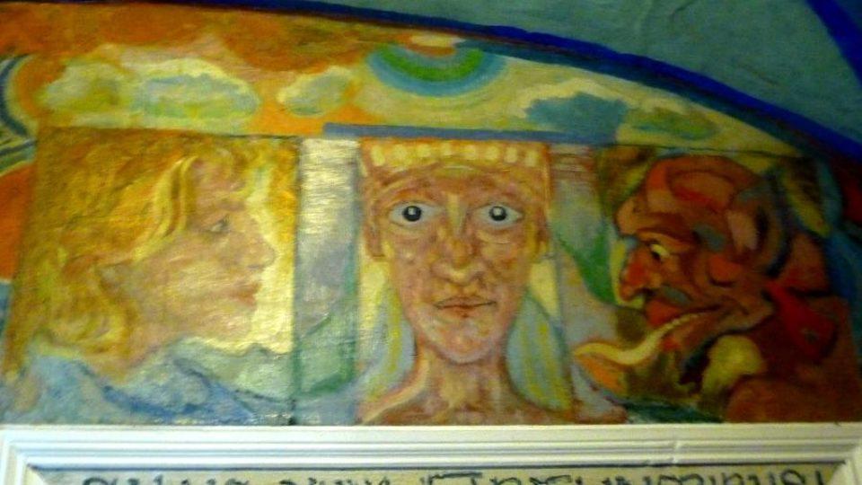 Detail jedné z maleb Josefa Váchala