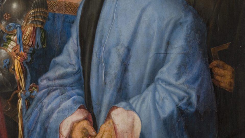 Skupina na prave strane obrazu, manzelka Bernharda Hirschvogela, Bernard Hirschvogel, Hieronym z Augsburgu