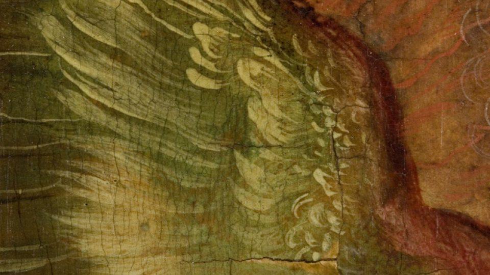 Detail andělského křídla
