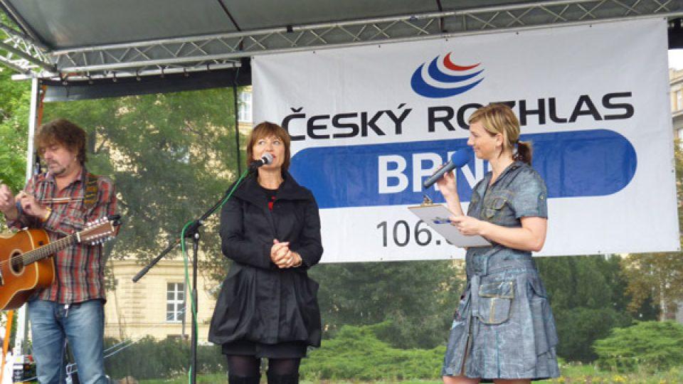 Petra Polzerová si s Petrou Černockou nejprve popovídala.