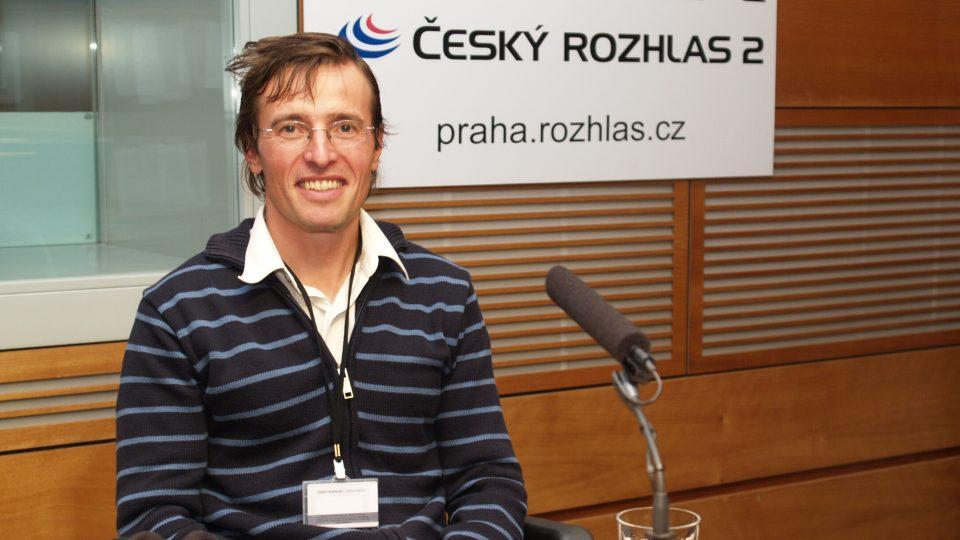 Julius Šimko ve studiu Čro 2 - Praha