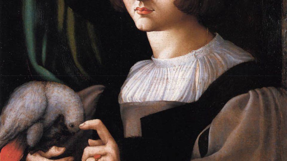 Francesco Melzi: Muž s papouškem