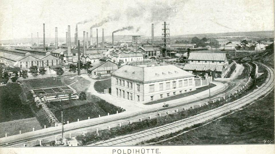 Poldina huť v roce 1905