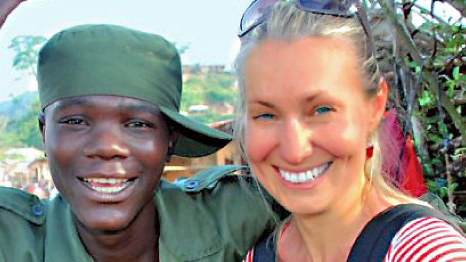 Lenka Klicperová v Kongu