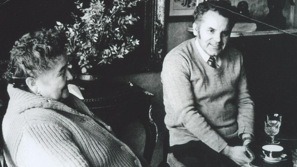 44. Jaroslava Eliášová s historikem Tomášem Pasákem