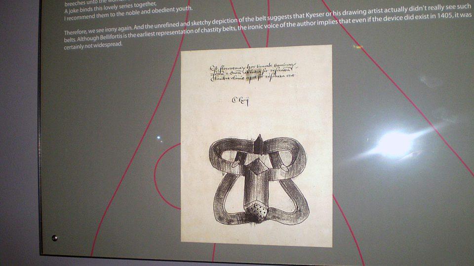 První zobrazení pásu cudnosti z roku 1405