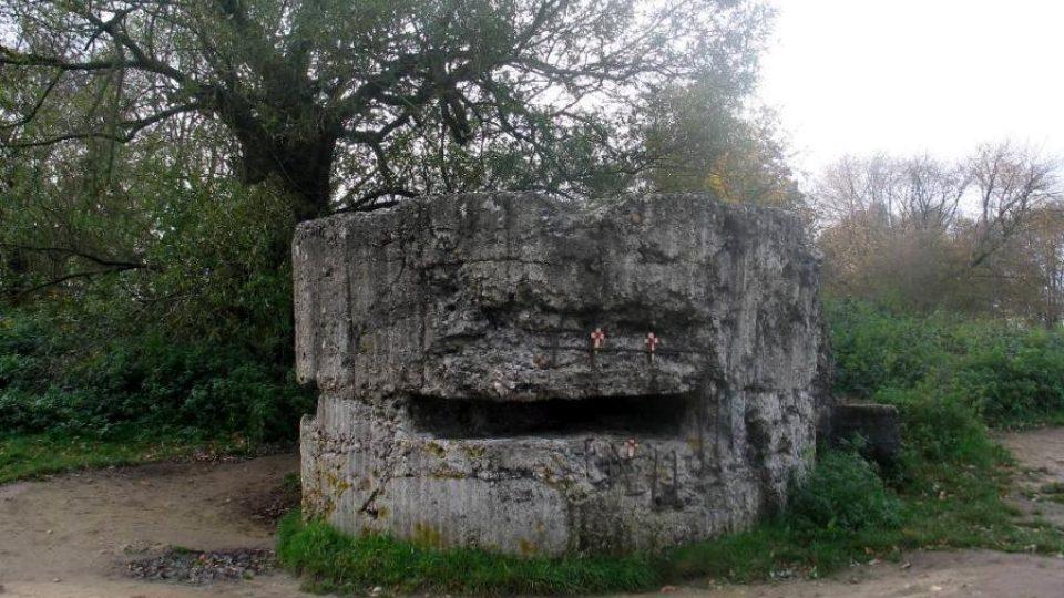 Opuštěný bunkr z 1. světové války