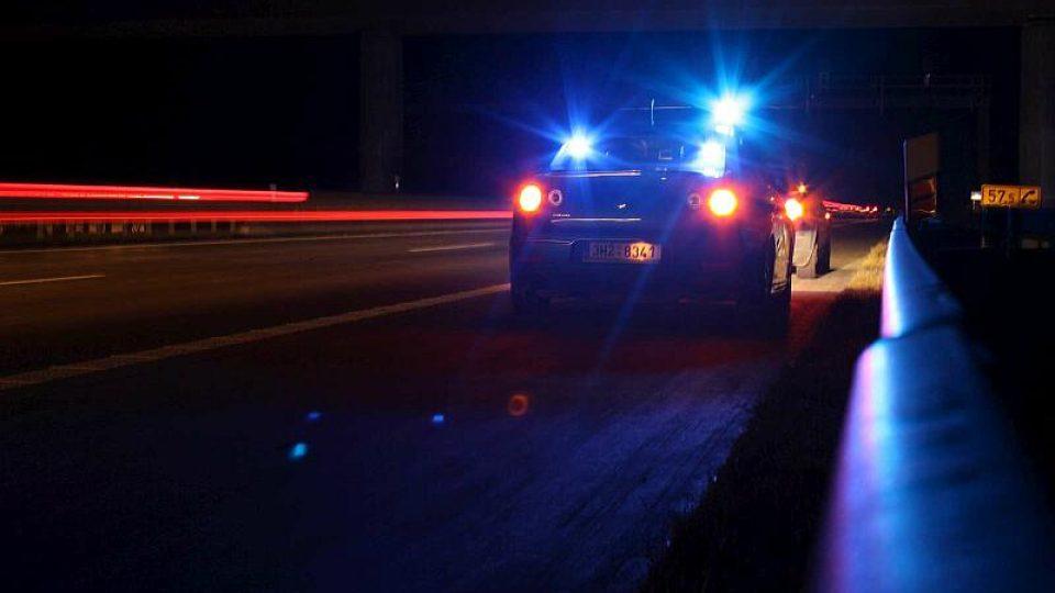 Noční služba dálniční policie