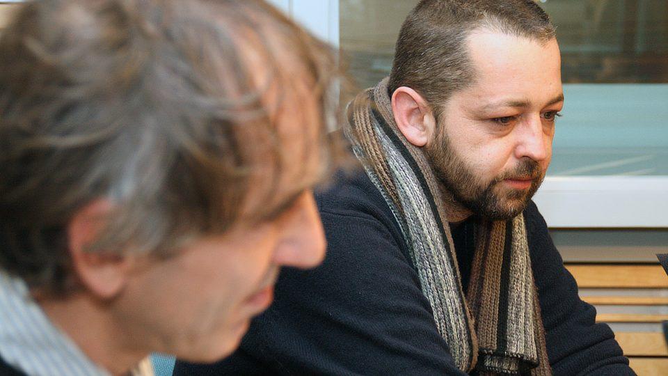 Karel Strachota a Adam Drda během rozhovoru