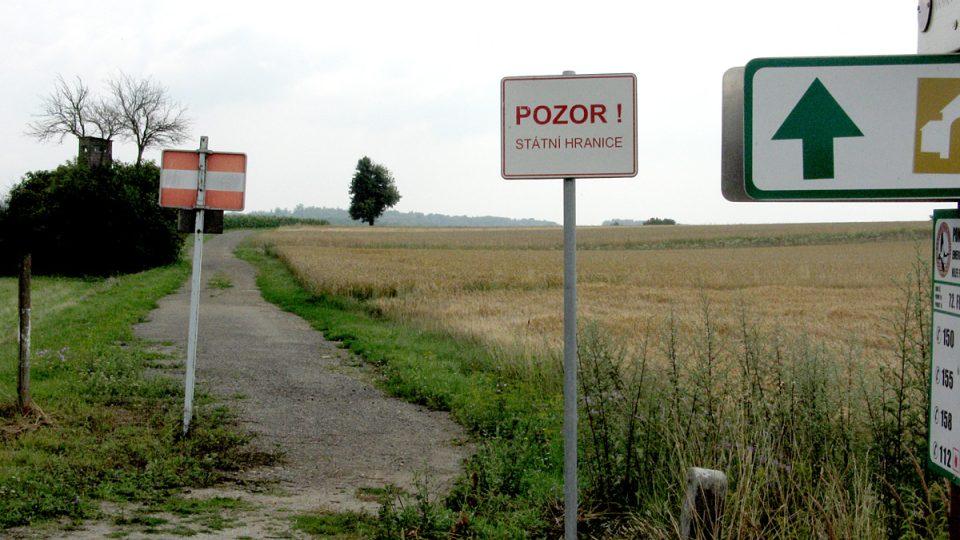 Státní hranice mezi Českem a Rakouskem v NP Podyjí