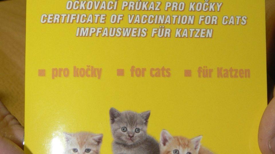 Očkovací průkaz pro kočky