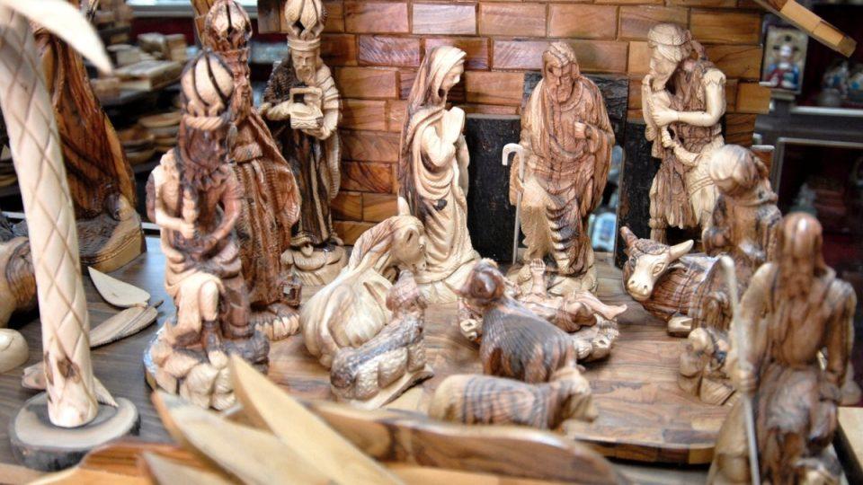 Propracovaný betlém z dílny pana Džakomána