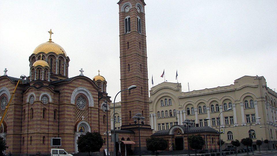 Pravoslavný kostel v Banja Luce, hlavním městě Republiky srbské