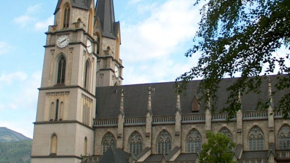 Chrám v Admontu byl jednou z prvních novogotických církevních staveb v Rakousku