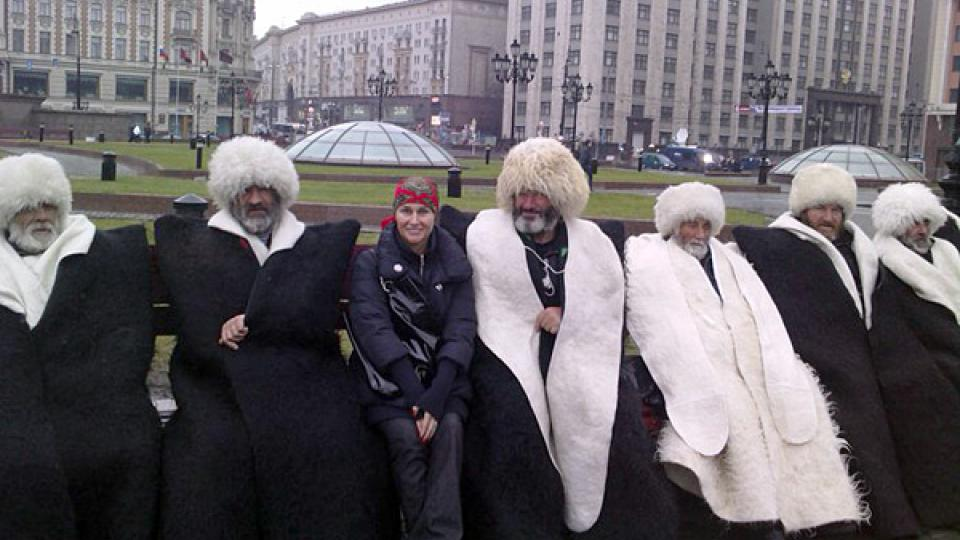 Lucie Výborná a delegace z Kavkazu v Moskvě