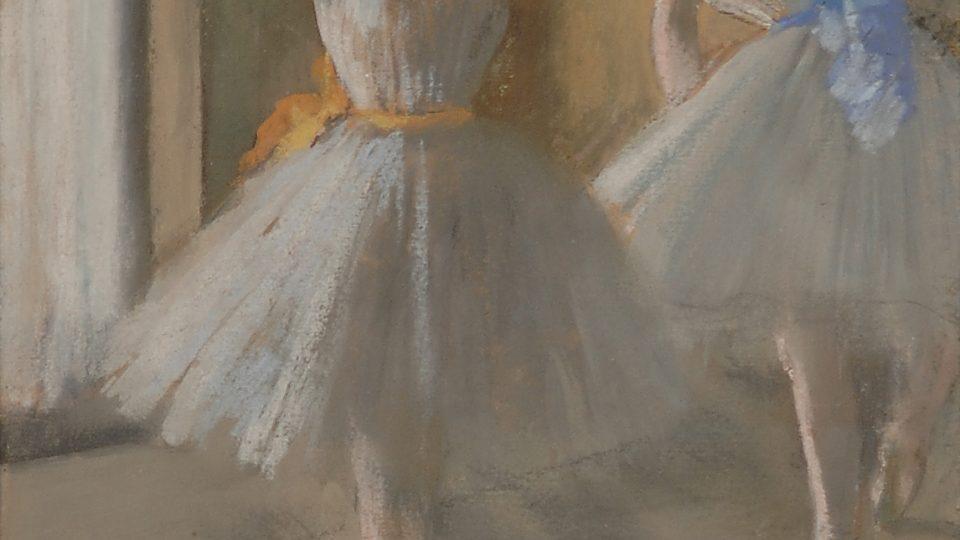 Edgar Degas - Deux Danseuses au Foyer (L'ecole de danse), 1873-5