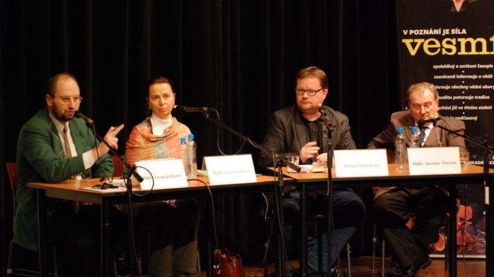 Hosté: PhDr. Eva Labusová, PhDr. Jaroslav Šturma a PhDr. Jeroným Klimeš.