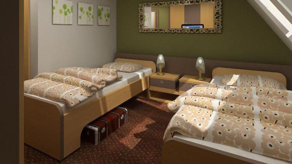 Zámek Berchtold - počítačová animace pokoje