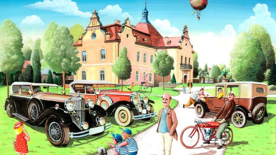 Zámek Berchtold - na malovaném obrázku