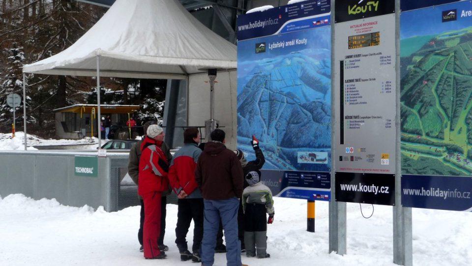 Dvě sjezdovky nového zimního střediska Kouty patří svou délkou přes 2 kilometry k nejdelším na Moravě