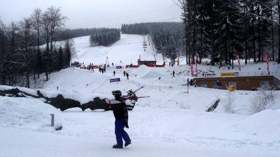 Nový skiareál Kouty v Hrubém Jeseníku by se měl v příštích letech dále rozrůstat