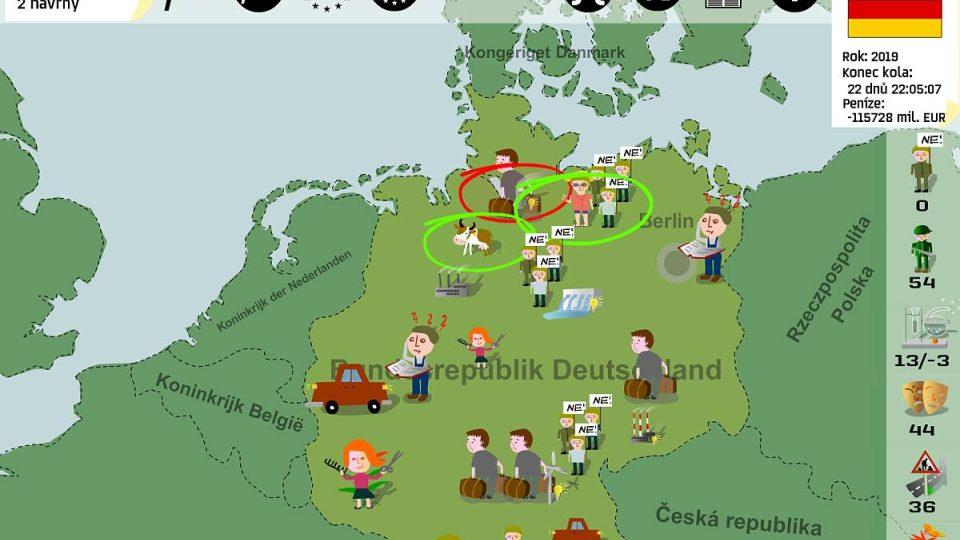Evropa 2045 umožní studentovi hrát za konkrétní stát