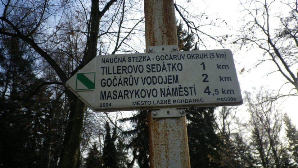 V Bohdanči si můžete projít i naučnou stezkou Josefa Gočára