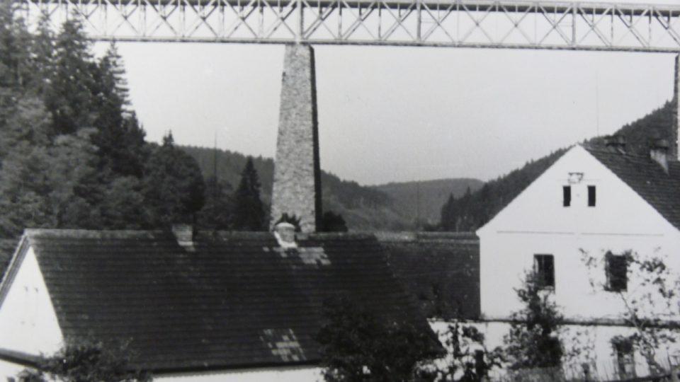 Ocelový most v r. 1940