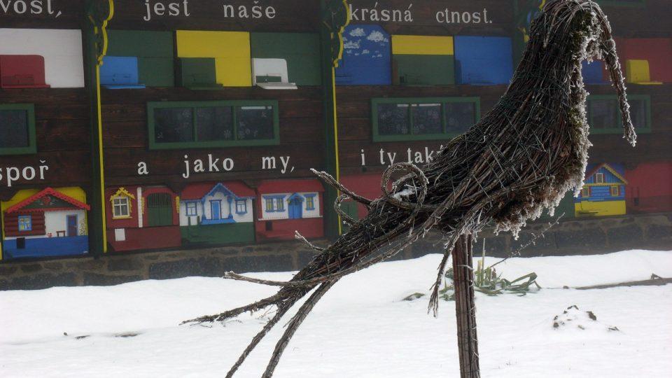 Krušlovský včelín v zimě III.