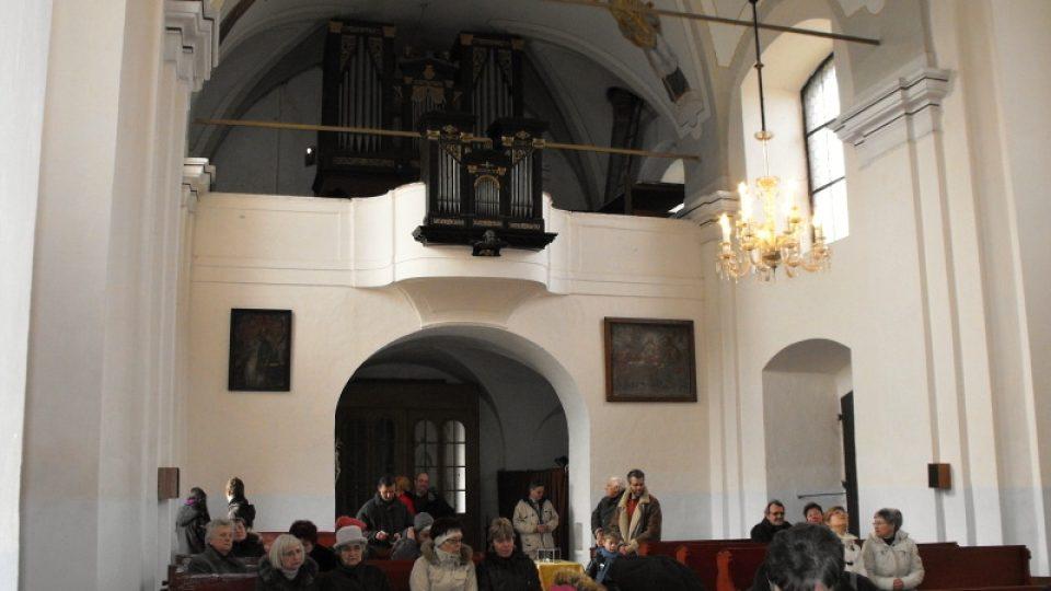 Rosice - kostel sv. Václava a nástroj od Karla Trnky
