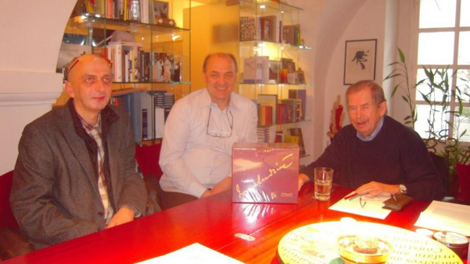 Veso Djorem, MuDr. Edib Jaganjac a Vaclav Havel