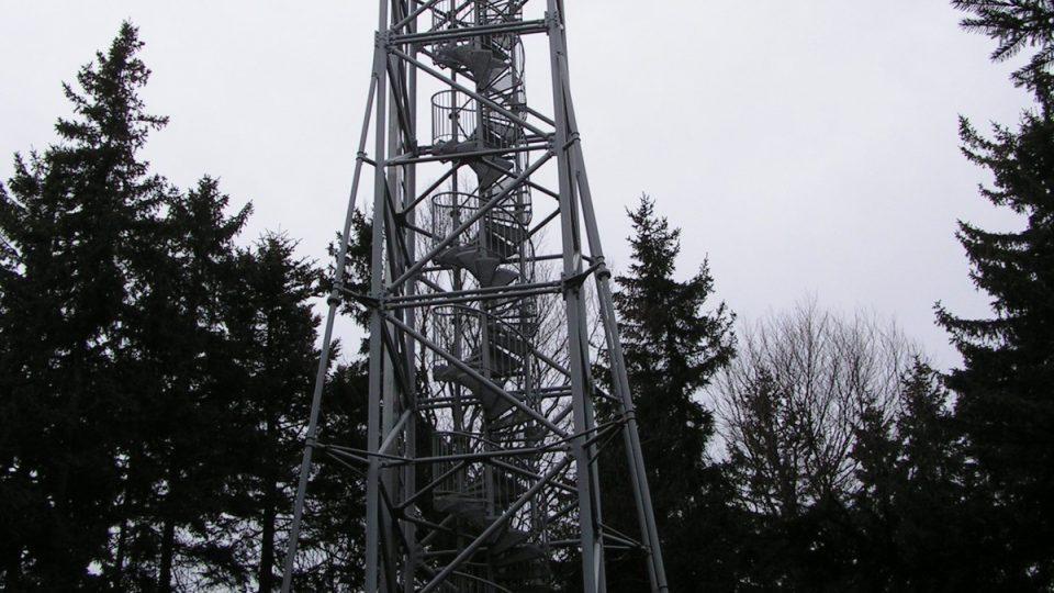 Rozhledna - vysílač na hoře Kraví