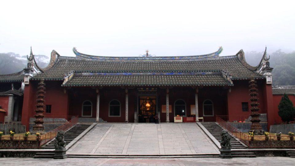 Hlavní vstup do buddhistického kláštera Jung-čchüan v provincii Fu-ťien