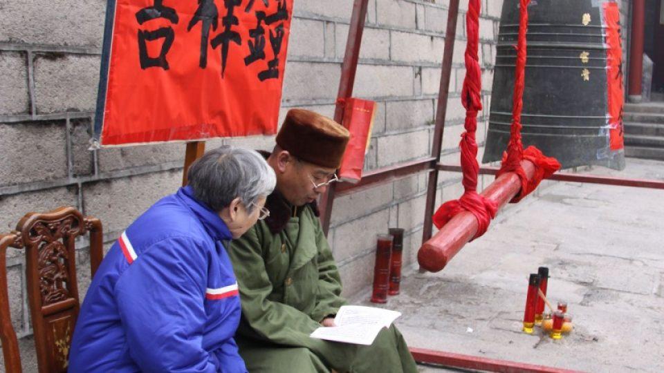 Za poplatek můžete v klášteře Jung-čchüan rozeznít zvon štěstí
