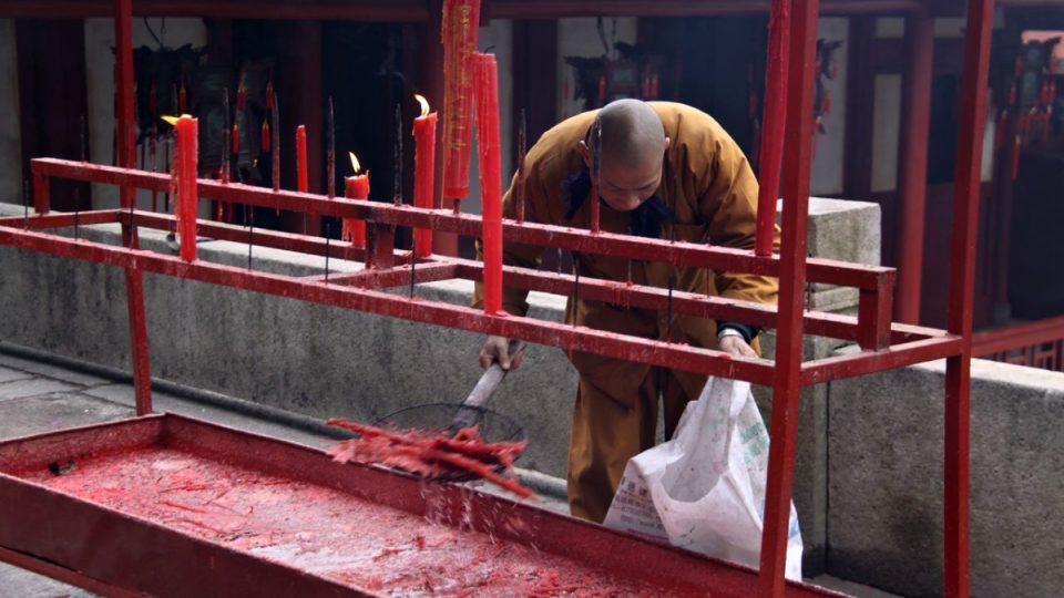 Buddhističtí mniši žijí v klášteře Jung-čchüan už 11 století