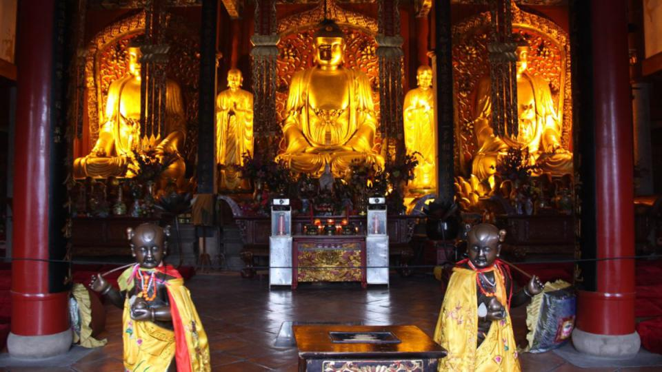 Hlavní chrám buddhistického kláštera Jung-čchüan v čínské provincii Fu-ťien