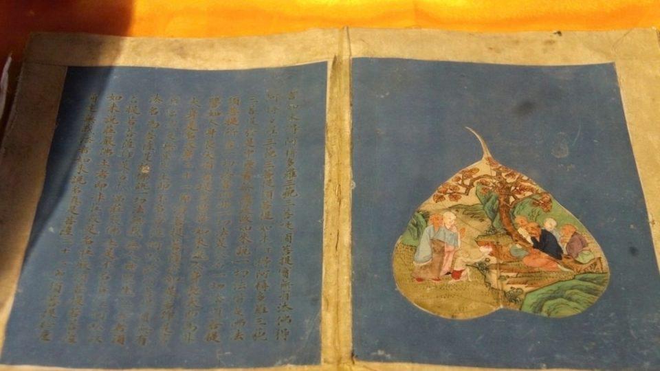 Stejně jako evropské rukopisy, i čínské starodávné texty psané mnichy v buddhistických klášterech zdobí iluminace