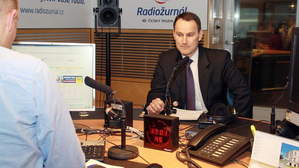 Martin Veselovský před vysíláním s Erikem Bestem