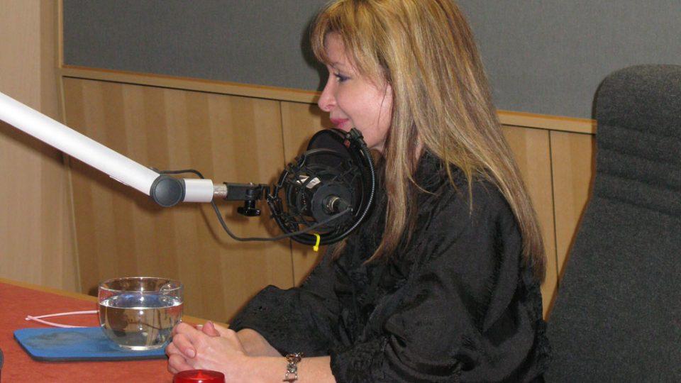 MUDr. Marta Moidlová ve studiu Leonarda