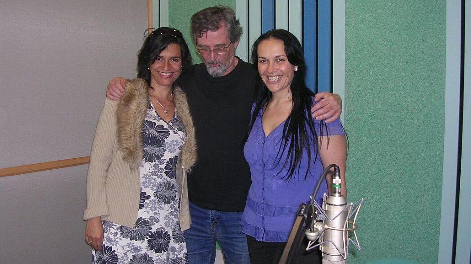 Vokální duo Two voices - tedy Edita Adlerová a Jana Rychterová - ve studiu ČRo HK