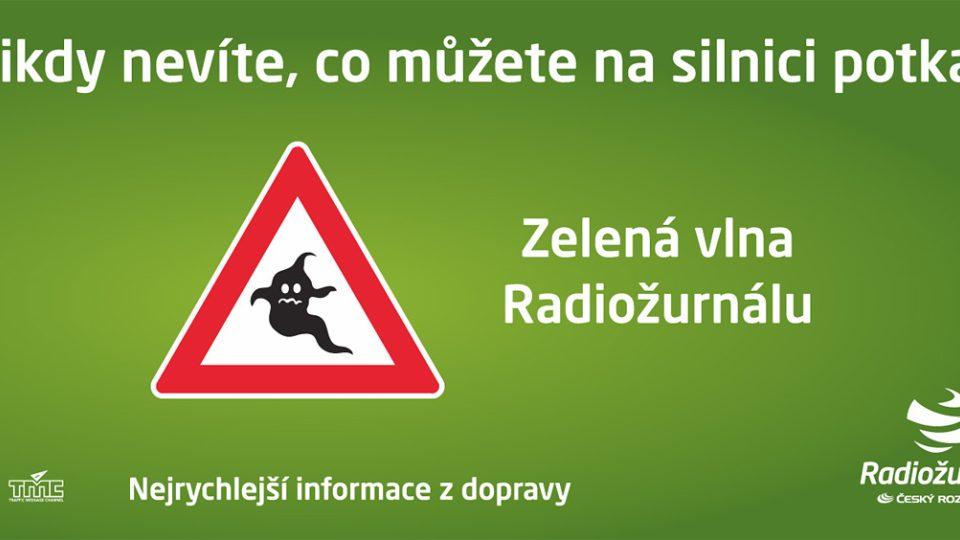 Motiv billboardu Zelené vlny Radiožurnálu v květnu 2011