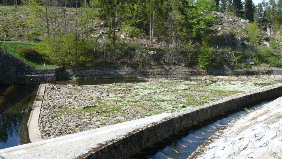 Soběnovská přehrada byla při povodních v roce 2002 protrhnutá, opravy trvaly do roku 2006